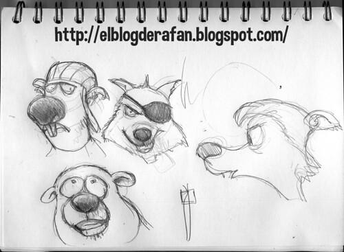 estudio de personajes animales