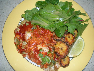 Avocado and Pinto Bean Enchiladas; Cornmeal-Crusted Plantains; Cumin-Cinnamon Vinaigrette