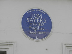 Photo of Tom Sayers blue plaque