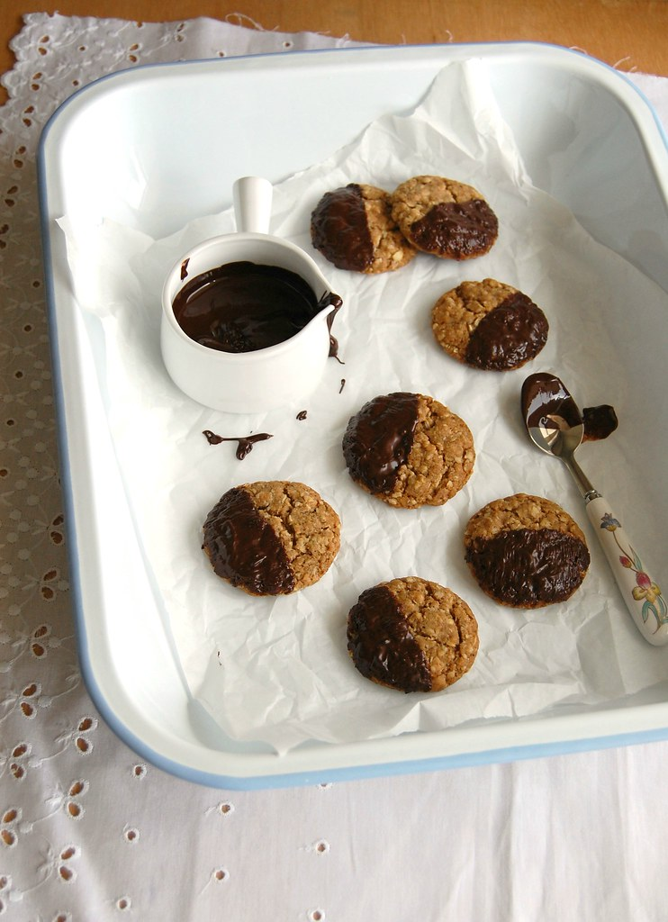 Chocolate oaties / Biscoitos de aveia com chocolate