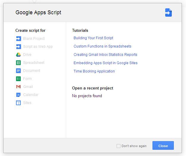 Google Script in Google Drive