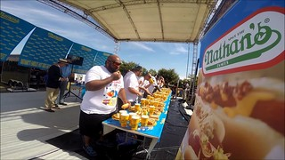 Nathans Famous Hot Dog Eating Contest Dover- Round 2 #roadtoconey 2015
