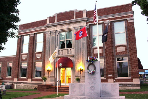 Macon County Courthouse at Dusk - Lafayette, TN