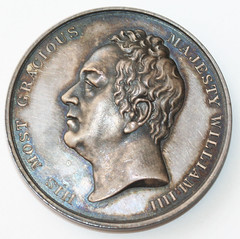 1830 Accession of William III medal obverse
