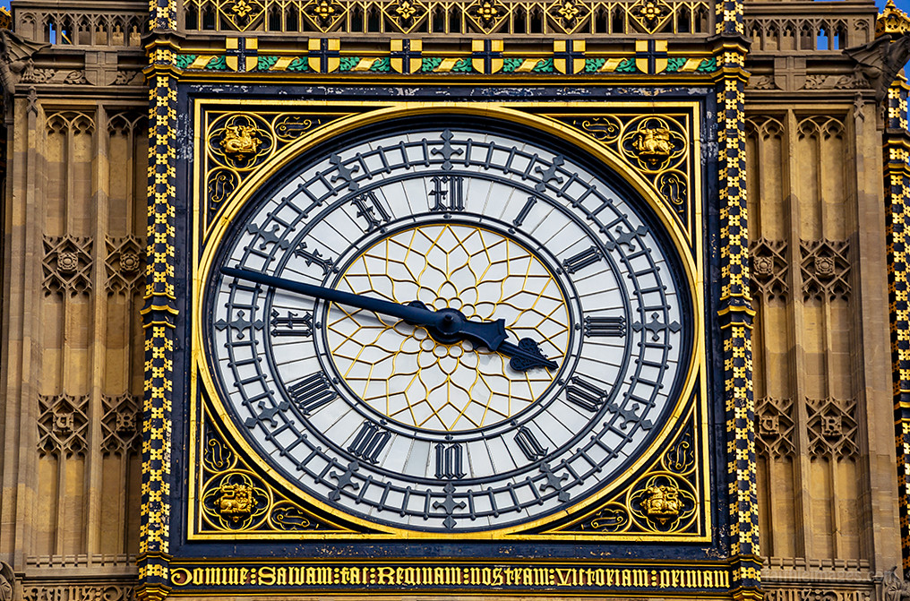 close-up of the clock part