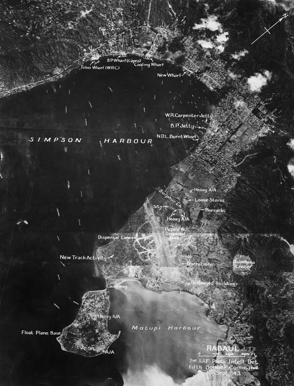 Rabaul in Sept 1943