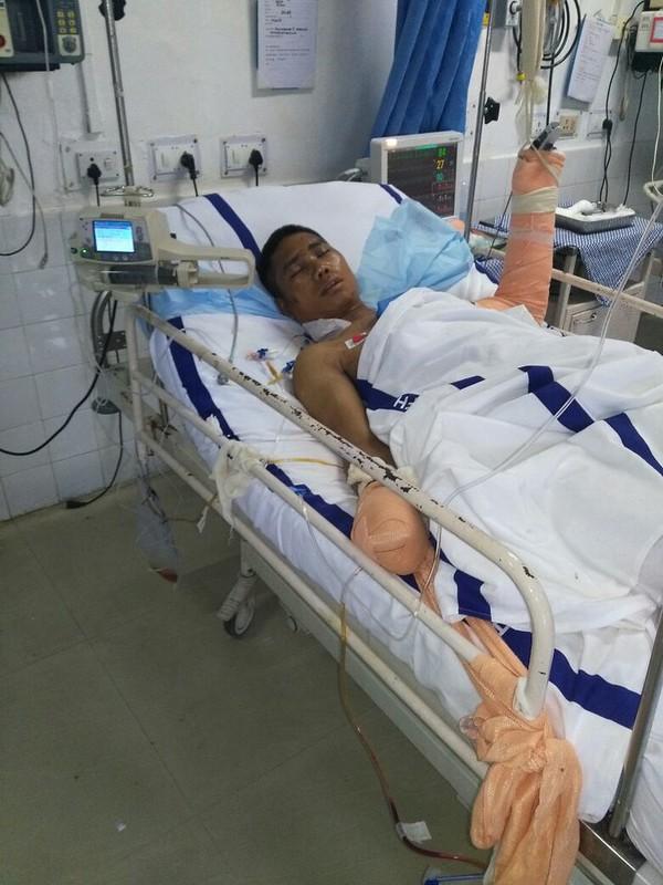 Rifleman Kamal Mitra Chakma in The Hospital in Mizoram