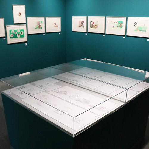 絵本の原画もたくさん!内覧会につき、特別に撮影させてもらいました。 #くまのがっこう展 #松屋銀座
