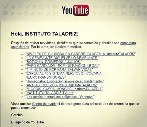 Revisión total de #videos en #youtube. #institutotaladriz #auxiliardefarmacia #secretariadomedico www.InstitutoTALADRIZ.com.ar