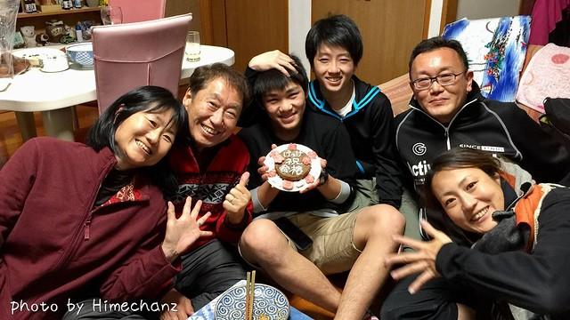 26日夜の写真。K君の高校合格祝いをさすらい亭で♪ <br/>K君、本当に嬉しかったようです!!