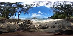 Kukaimanini Island and the Waiale'e Beach, Oahu, Hawaii - 360° Equirectangular VR