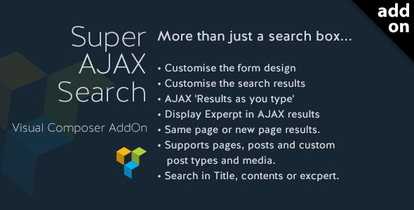Super AJAX Search Element v1.0.4