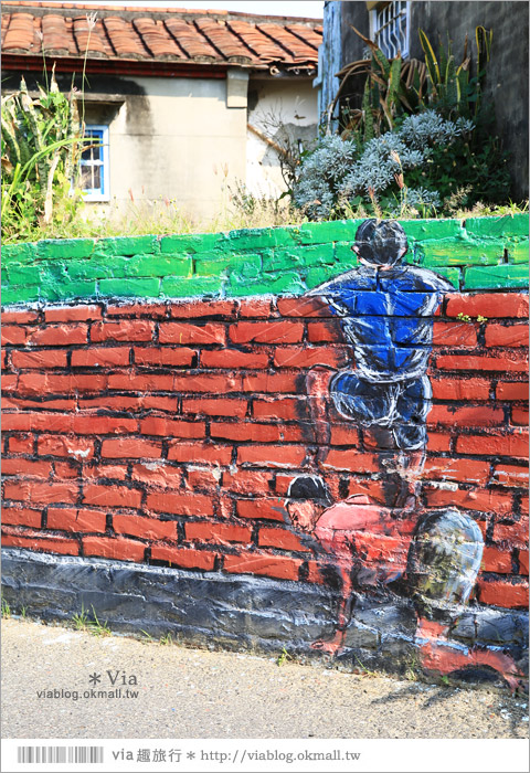 【關廟彩繪村】新光里彩繪村~在北寮老街裡散步‧遇見全台最藝術風味的彩繪村19
