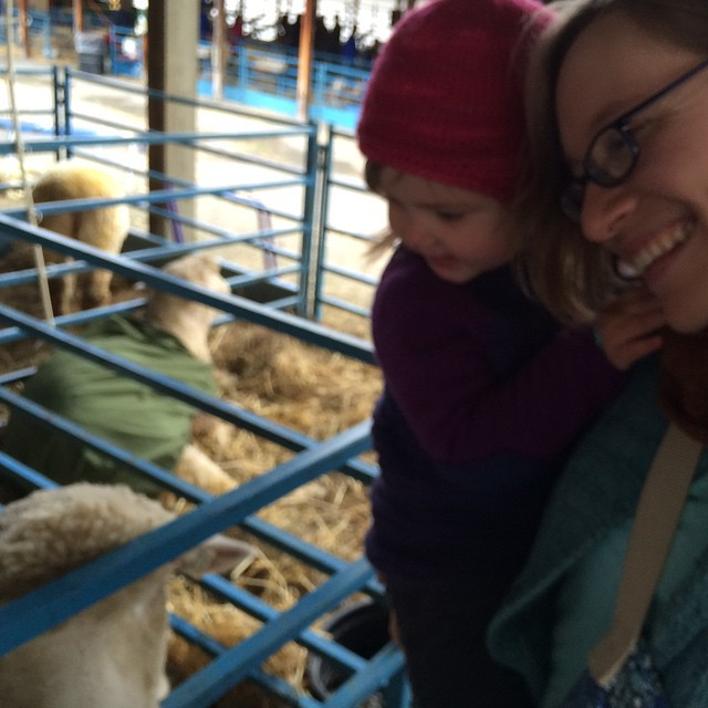 "We met some sheep, and M learned that they really do say ""Baaah"" (quite loudly!)"