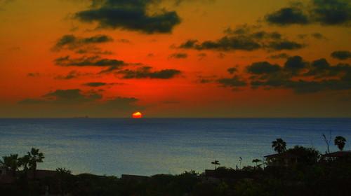sunset sea clouds silhoutte bonaire caribbeansea caribbeannetherlands caribischnederland