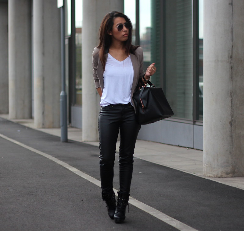 c1f574f2be H M  Faux Leather Trousers - Sindy Kai