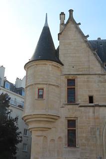 Image of Hôtel de Sens. paris de sens library bibliothèque marais forney hôtel échauguette