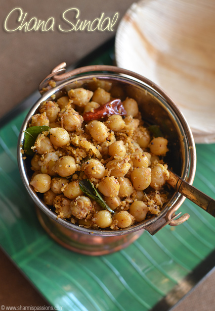 Channa Masala Sundal Recipe
