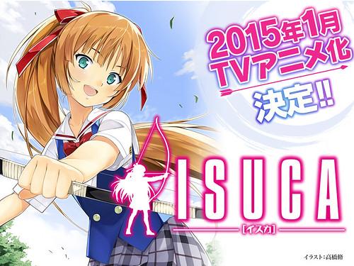 141001(1) - 18禁除魔美少女漫畫《ISUCA 依絲卡》預定2015年1月放送動畫版、製作群&第一批聲優公開!