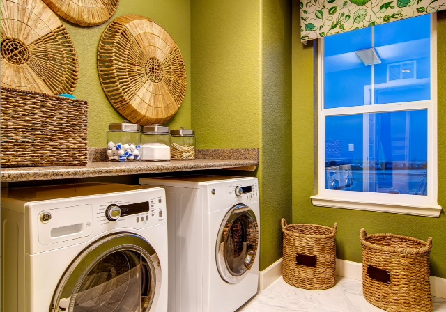 Clean & Simple | Laundry Room Decor | #LivingAfterMidnite