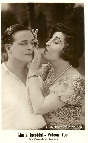 Maria Jacobini and Malcolm Tod in Il carnevale di Venezia