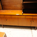 Teak stained 4 drawer sideboard