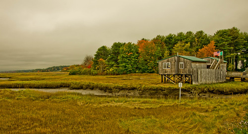autumn colors cloudy maine overcast wells marsh drakesisland rentalproperty wellsme