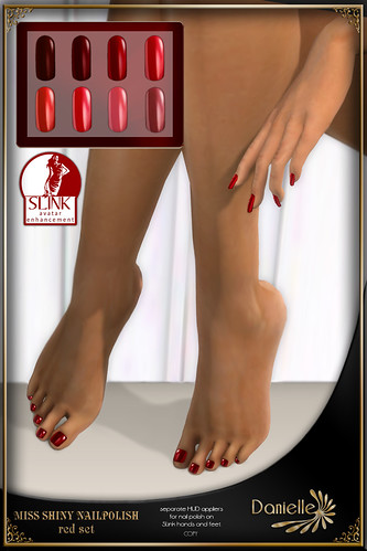 DANIELLE Miss Shiny Nailpolish Red Set