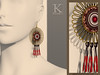 Andino vendors - red earrings