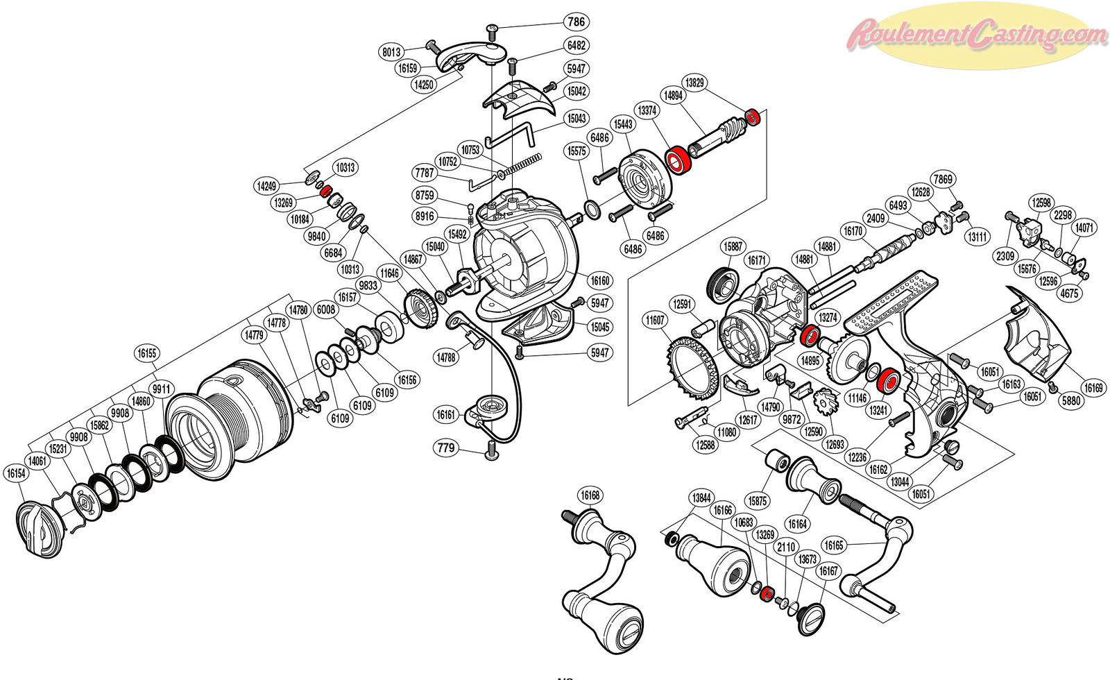 Schéma Shimano 14'StradicCI4Plus4000FA