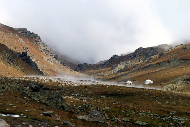 2) Yurts in the Mist