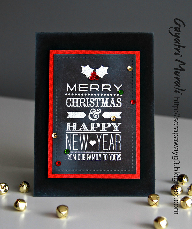chalkboard christmas card 2