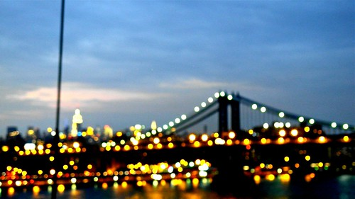 Bright lights, New York City