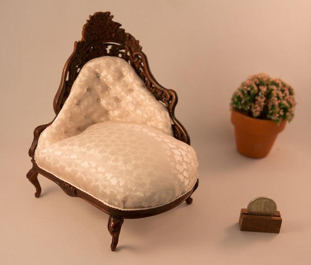 Rococo revival settee