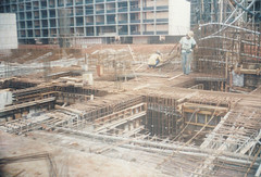 brickwork(0.0), arena(0.0), reinforced concrete(1.0), foundation(1.0), construction(1.0), scaffolding(1.0),