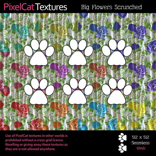 PixelCat Textures - Big Flowers Scrunched
