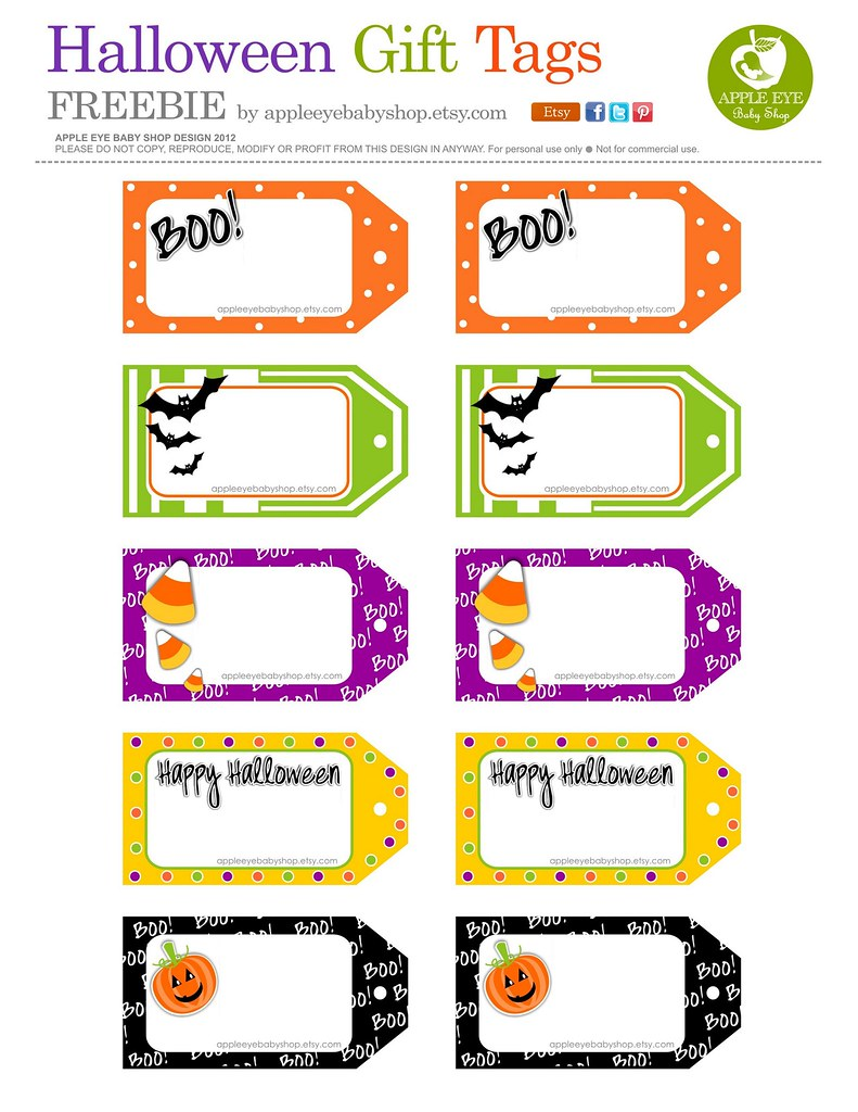 happy halloween labels