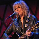 Lucinda Williams at Rockwood Music Hall in NYC, 10/1/14. Hosted by Rita Houston. Photo by Neil Swanson.