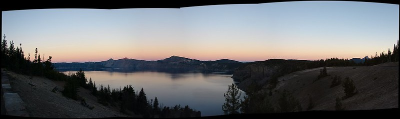 Crater Lake in the morning