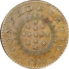 1786-85 Immunis Columbia, Confederatio Mule reverse