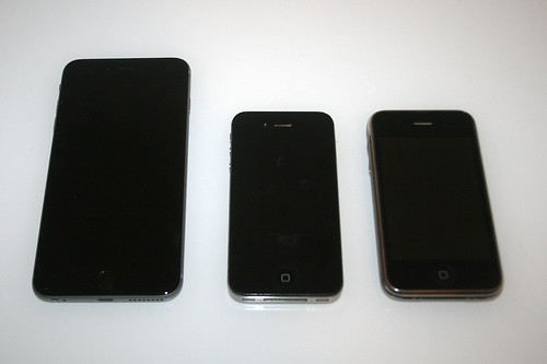 09 - iPhone 6 Plus - Größenvergleich / Size comparison