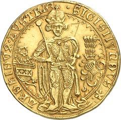 331a HRE. Sigismund, 1446-1496. 7 ducats 1486