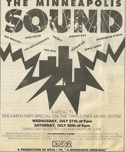 "07/27/88 & 07/30/88 ""The Minneapolis Sound"" (KTCA 2 TV / KFAI 90.3 Radio)"
