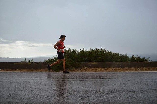 Around 50-55K. The first rush is over. The remaining distance falls down on you. Foto: Alessia