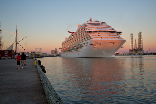 cruise pink sky galveston industry water port sunrise dock ship texas carnivalmagic sunskycloud lookoutforpirates