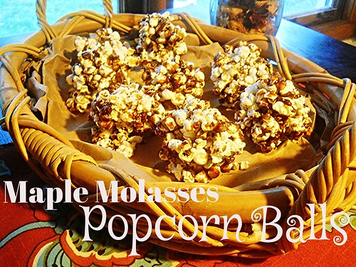 Maple Molasses Popcorn Balls