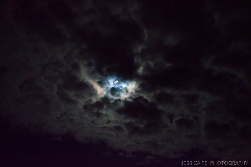 clouds moon night photography