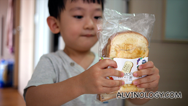 I bought two slices of memory breads for Asher