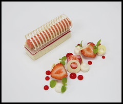 Strawberry and Vanilla mousseline