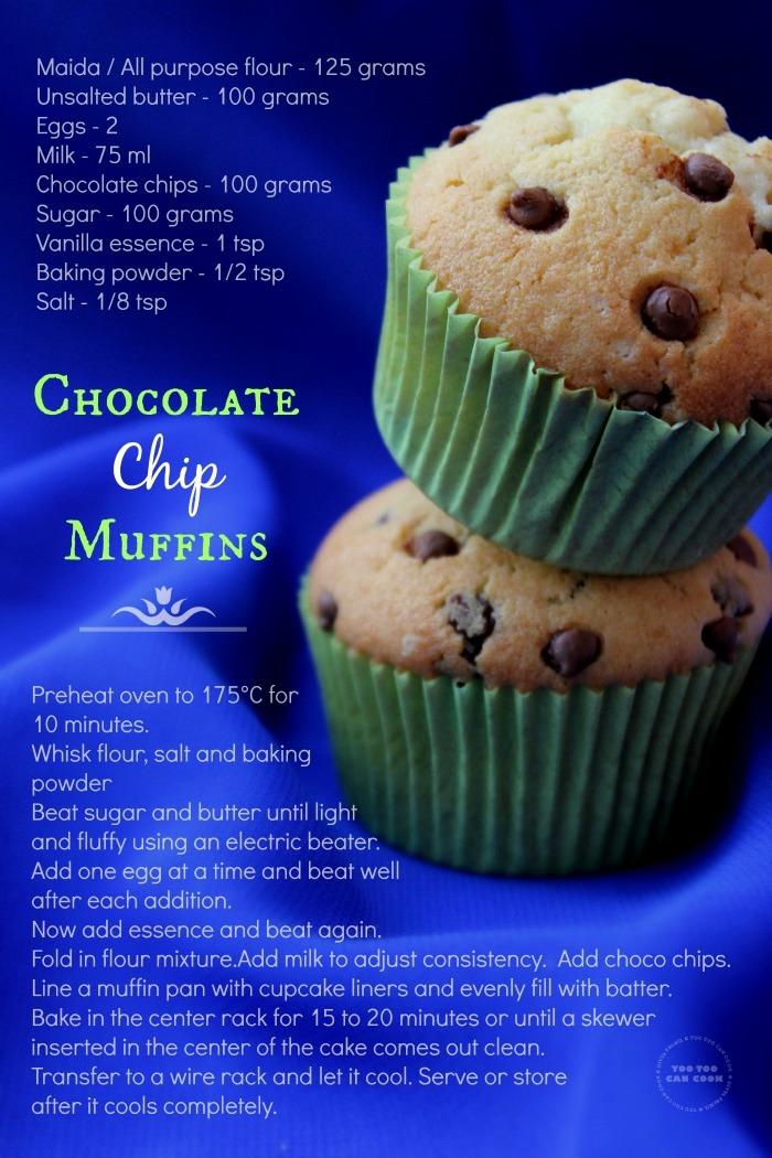 choco chips muffins 120